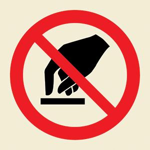 Do not touch symbol – Marine Equipment and Services Co. LTD